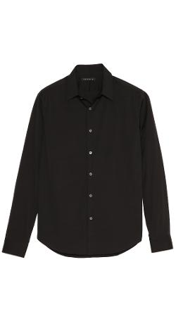 Slyvain Solid Dress Shirt by Theory in Laggies