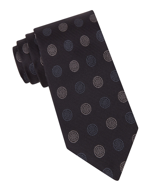 Medallion Print Silk Tie by John Varvatos USA in The Blacklist - Season 3 Episode 12
