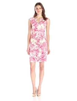 Floral-Print Sheath Dress by Adrianna Papell in Trainwreck