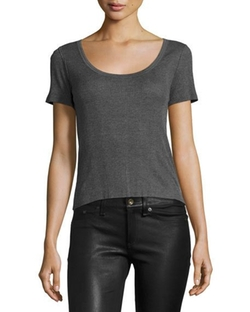 Ribbed Scoop-Neck Tee Shirt by Rag & Bone in Supergirl
