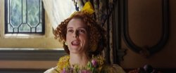 Custom Made Yellow Ruffled Dress (Drizella) by Sandy Powell (Costume Designer) in Cinderella