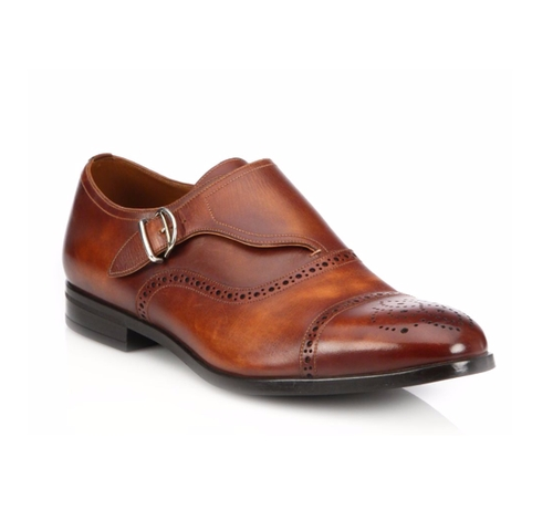 Lanor Perforated Monk-Strap Dress Shoes by Bally in Ballers - Season 2 Episode 3