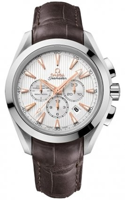Aqua Terra Silver Dial Brown Leather Mens Watch by Omega in Fifty Shades of Grey