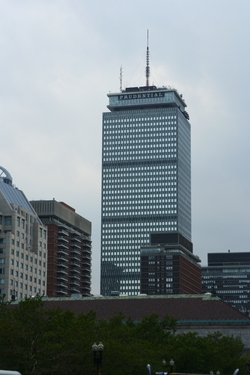 Boston, Massachusetts by Prudential Tower in Spotlight