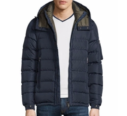 Danube Hooded Down Jacket by Moncler in The Great Indoors