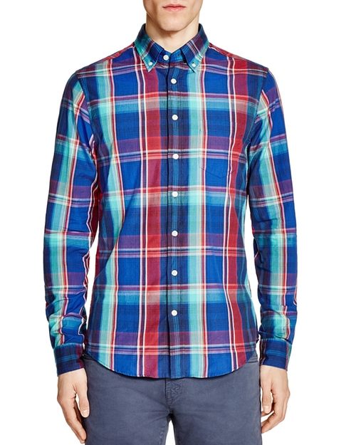 Birdie Madras Plaid Shirt by Gant in The Fundamentals of Caring