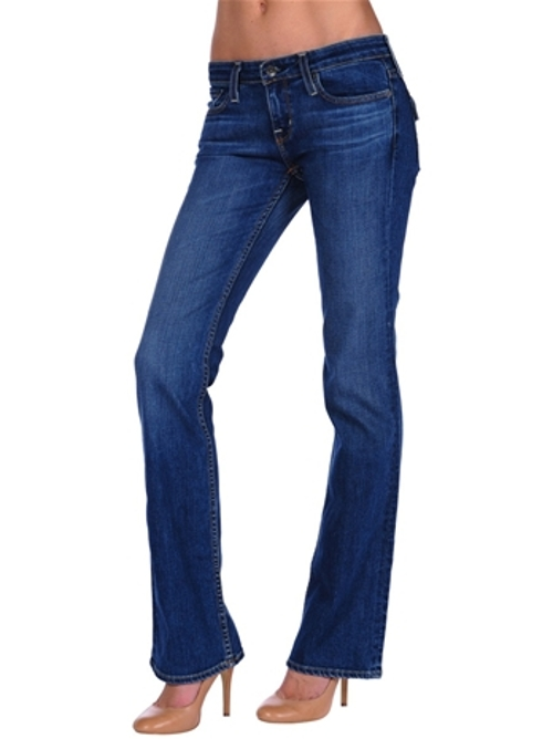 Remy Flap Pocket Low Rise Bootleg Jeans by Big Star in Twilight