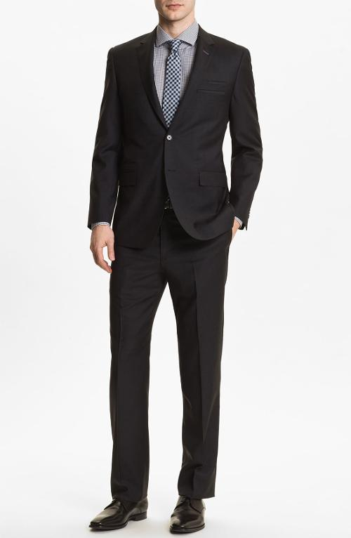 Trim Fit Wool Suit by English Laundry in Unbroken