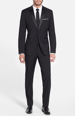 'The Stars 75/Glamour 3' Wool Tuxedo Suit by Boss in Arrow