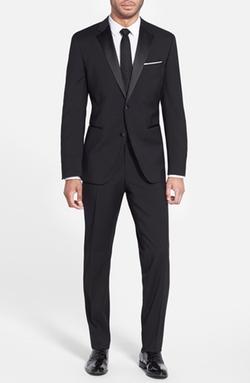 'The Stars 75/Glamour 3' Wool Tuxedo Suit by Boss in Arrow