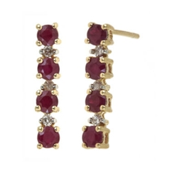 Ruby And Diamond Linear Earrings by Closeout! in American Horror Story