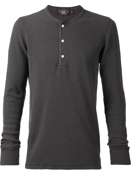 Ribbed Henley T-Shirt by RRL in Terminator: Genisys