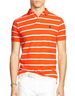 Classic-Fit Striped Mesh Polo Shirt by Polo Ralph Lauren in Silicon Valley