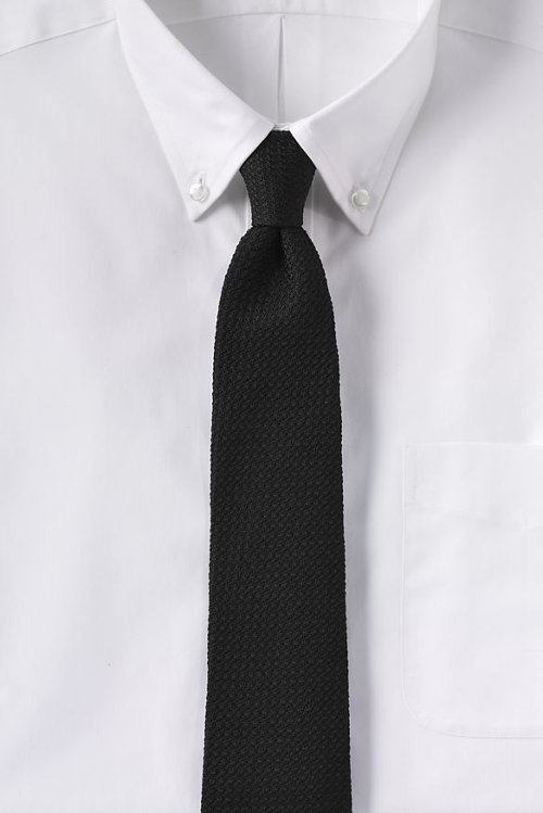 Woven Grenadine Necktie by Lands' End in The Man from U.N.C.L.E.