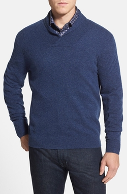 Shawl Collar Cashmere Sweater by Nordstrom in That Awkward Moment