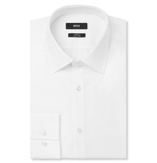 Jacob Slim-Fit Cotton Shirt by Hugo Boss in The Spy Who Loved Me