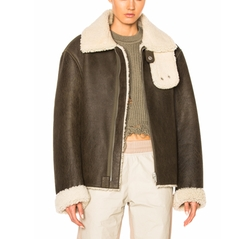 Season 3  2 Tone Lamb Shearling Coat by Yeezy in Keeping Up With The Kardashians