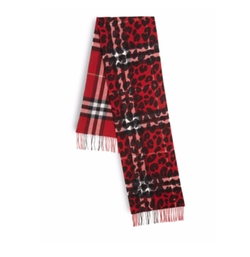 Cashmere Leopard-Print Check Scarf by Burberry in The Blacklist