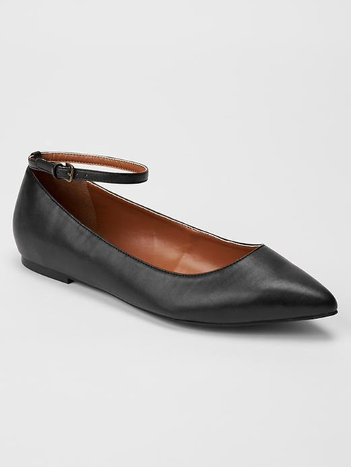 Solid Ankle-Strap Ballet Flats by Gap in The Big Bang Theory