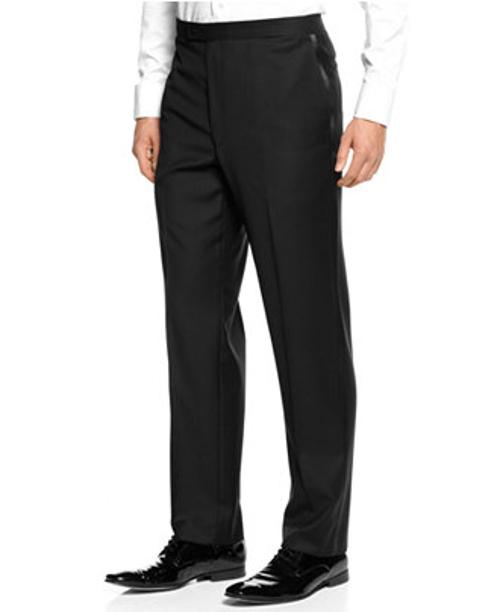 Black Tuxedo Pant Slim-Fit by Calvin Klein in Focus