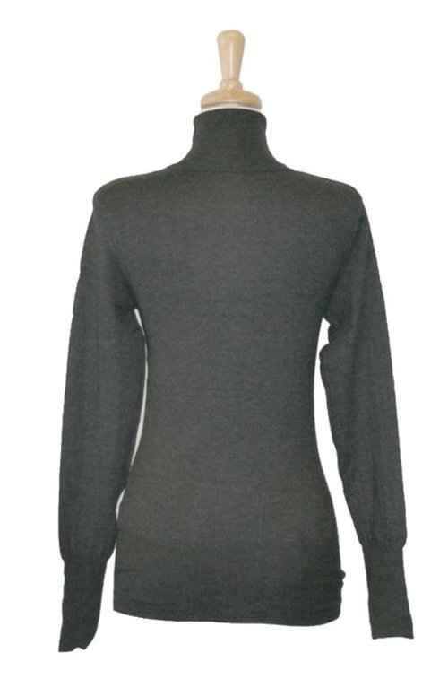 Women's Long Sleeve Fitted Turtleneck Sweater by 2LUV in If I Stay