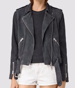 Braided Wyatt Biker Jacket by All Saints in Shadowhunters