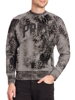 Acid-Wash Raglan Sleeve Sweatshirt by PRPS in Why Him?