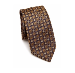 Medallion Pattern Silk Tie by Saks Fifth Avenue Collection in The Blacklist