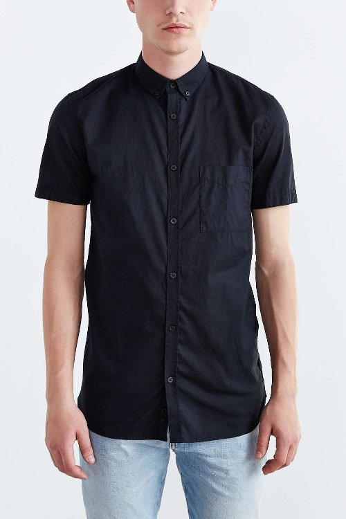 Short-Sleeve Button-Down Shirt by Zanerobe in Couple's Retreat