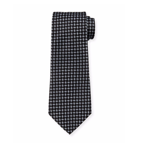 Geometric Box-Printed Silk Tie by Armani Collezioni in Suits