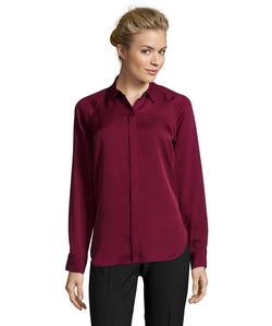 Silk Button Front Blouse by Theory in Pretty Little Liars