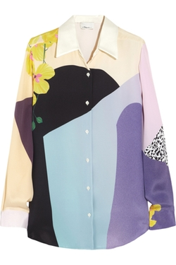 Printed Silk-Crepe Shirt by 3.1 Phillip Lim in The Mindy Project