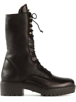 Classic Military Boots by Versace in That Awkward Moment