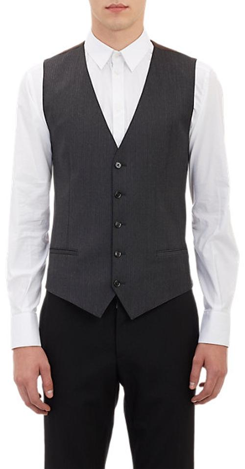 Herringbone-Stripe Waistcoat by Dolce & Gabbana in The D Train