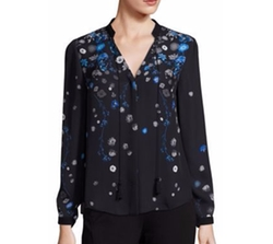 Amina Silk Floral-Print Blouse by Elie Tahari in Lethal Weapon