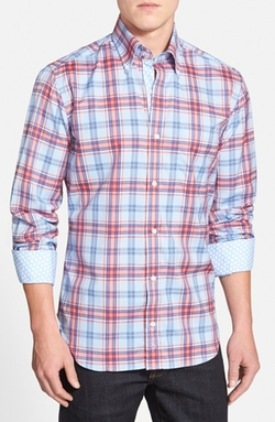 'Island Fin' Regular Fit Plaid Sport Shirt by TailorByrd in Modern Family