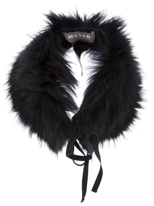 Fox Fur Collar Scarf by Yves Salomon in That Awkward Moment