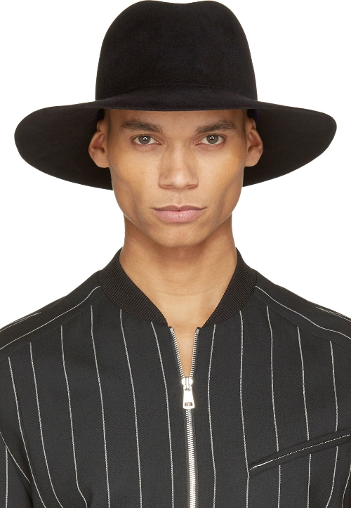 Black Kijima Takayuki Edition Fedora Hat by Undercover in Entourage