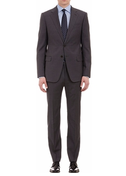 Stripe Worsted Wool Sartorial Suit by Armani Collezioni in Empire