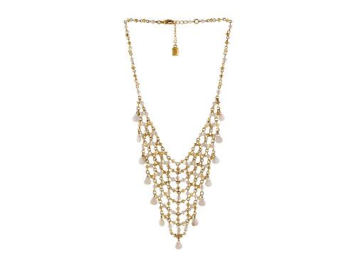 Jaipur Rosary Linked Multi Beads and Pearl Mesh Bib Lobster Closure Necklace by Lauren by Ralph Lauren in What If