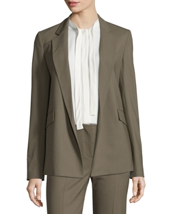 Sedeia Contour Open-Front Blazer by Theory in Quantico