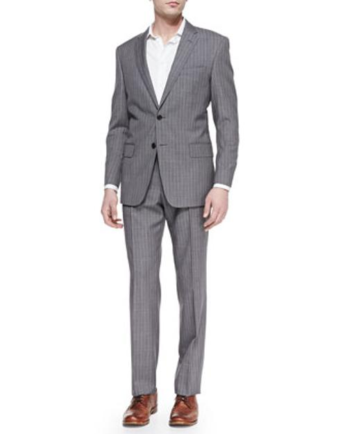 City-Fit 2-Button Wool Suit by Versace in Yves Saint Laurent