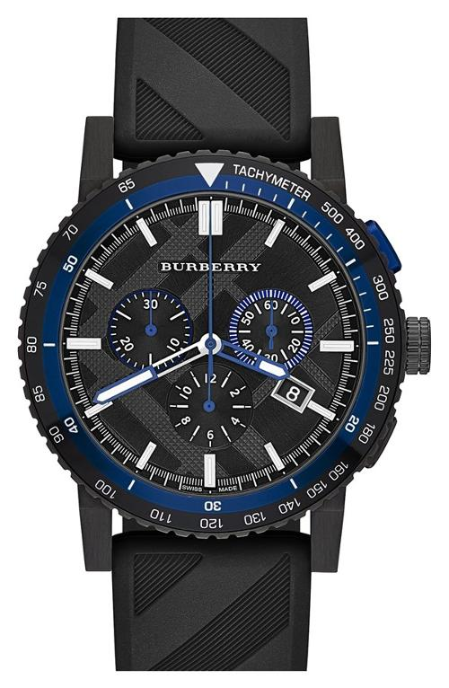 Chronograph Rubber Strap Watch by Burberry in Gone Girl