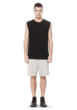 Slub Rayon Silk Muscle Tee by Alexander Wang in The Best of Me