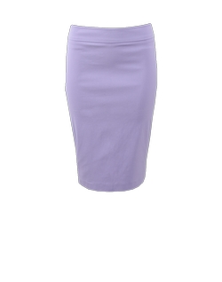 Pull-On Stretch Pencil Skirt by Avenue Montaigne in Notorious