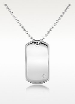Stainless Steel ID Military Plate Necklace by Manuel Zed in Pitch Perfect 2
