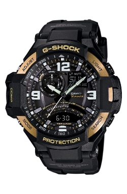 'Gravity Master' Digital Compass Resin Watch by G-Shock in Poltergeist