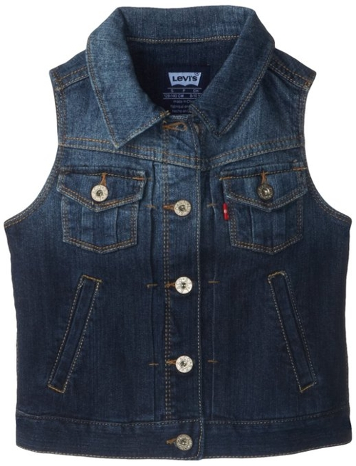 Girls' New Attitude Denim Vest by Levi's in Southpaw