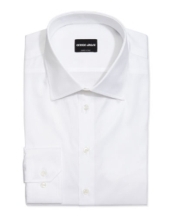Basic Cotton Dress Shirt by Giorgio Armani in Fight Club