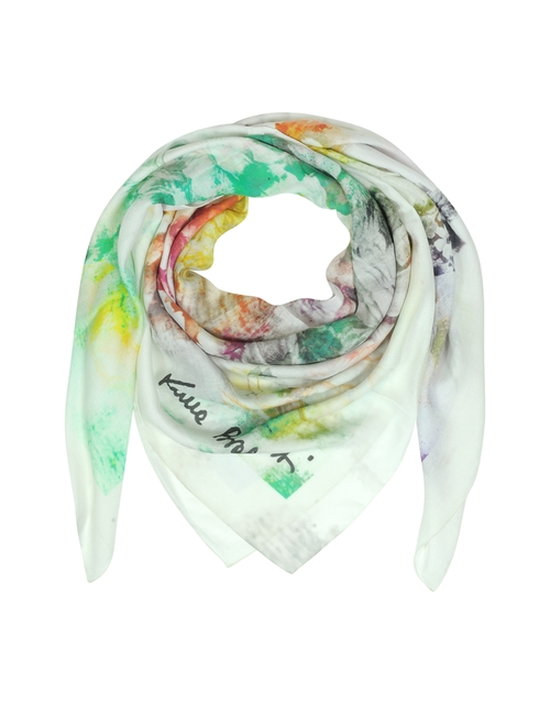 Multicolor Print Modal Wrap Scarf by Laura Biagiotti in Survivor